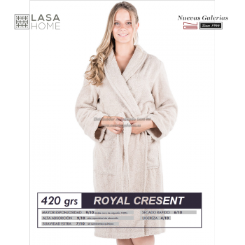Shawl Collar Robe Gray Stone| Royal Cresent