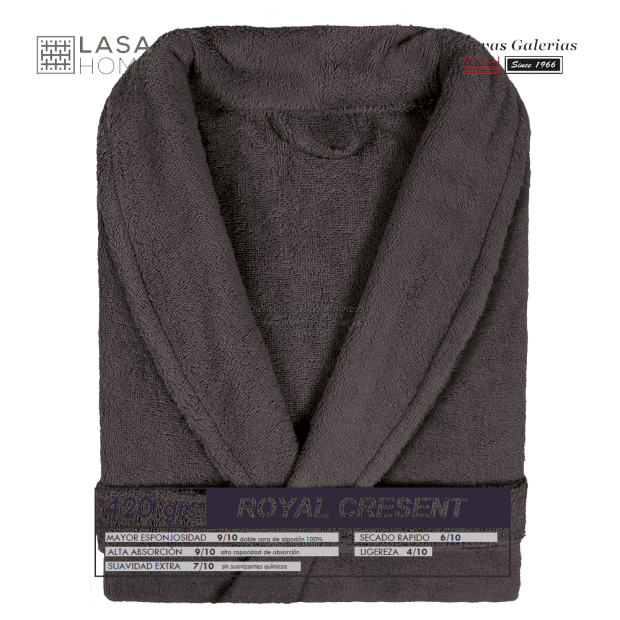 Bademantel Schalkragen braune Schokolade   Royal Cresent