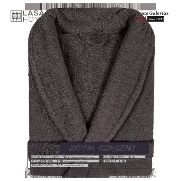 Peignoir col châle - Coton peigné Chocolat brun   Royal Cresent
