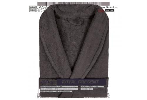 Peignoir col châle - Coton peigné Chocolat brun | Royal Cresent