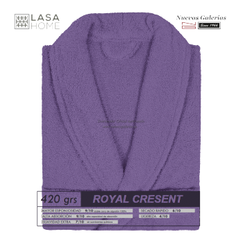 Bademantel Schalkragen Lila Pflaume | Royal Cresent