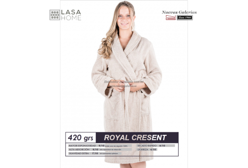 Shawl Collar Robe Purple plum | Royal Cresent
