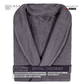 Albornoz cuello Smoking Gris Acero | Royal Cresent