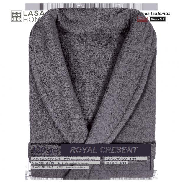 Albornoz cuello Smoking Gris Acero | Royal Cresent