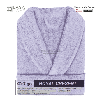 Albornoz cuello Smoking Azul lavanda | Royal Cresent