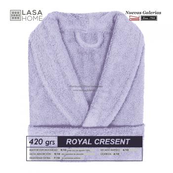 Bademantel Schalkragen Lavendelblau | Royal Cresent