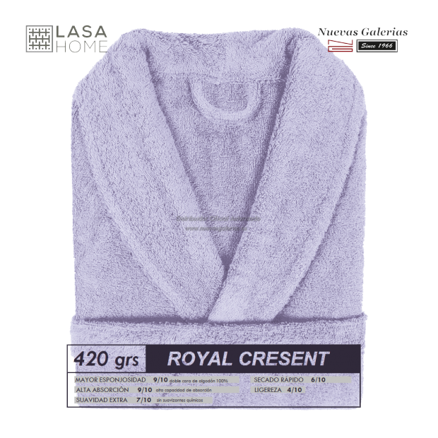 Shawl Collar Robe Lavander Blue | Royal Cresent