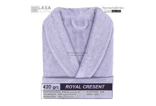 Albornoz cuello Smoking Azul lavanda | Royal Cresent