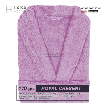 Shawl Collar Robe Pink Lavander | Royal Cresent