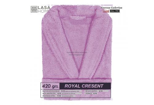 Accappatoio con collo a scialle Rosa lavanda | Royal Cresent