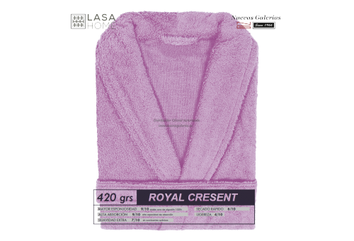 Albornoz cuello Smoking Rosa lavanda | Royal Cresent