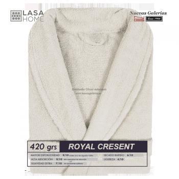 Accappatoio con collo a scialle Beig grigio| Royal Cresent