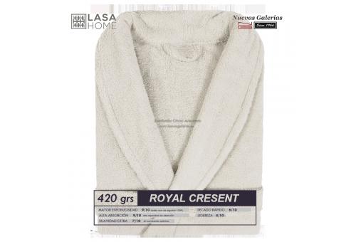 Bademantel Schalkragen Graues Beig | Royal Cresent