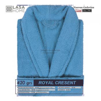 Bademantel Schalkragen Blaues Meer | Royal Cresent