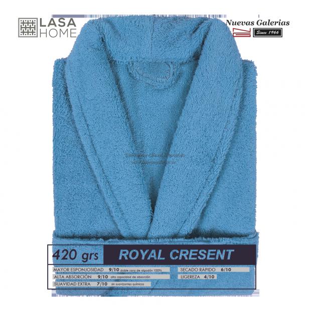 Bademantel Schalkragen Blaues Meer   Royal Cresent
