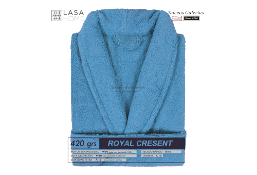 Shawl Collar Robe Blue sea | Royal Cresent