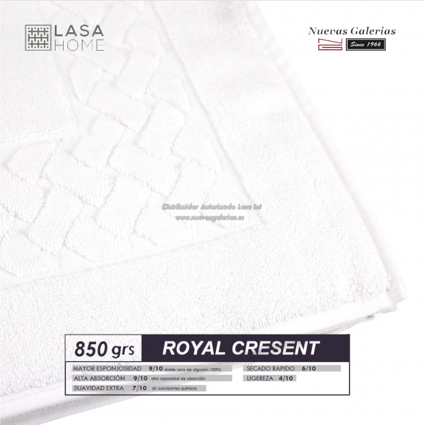 100% Cotton Bath Mat 850 gsm White | Royal Cresent