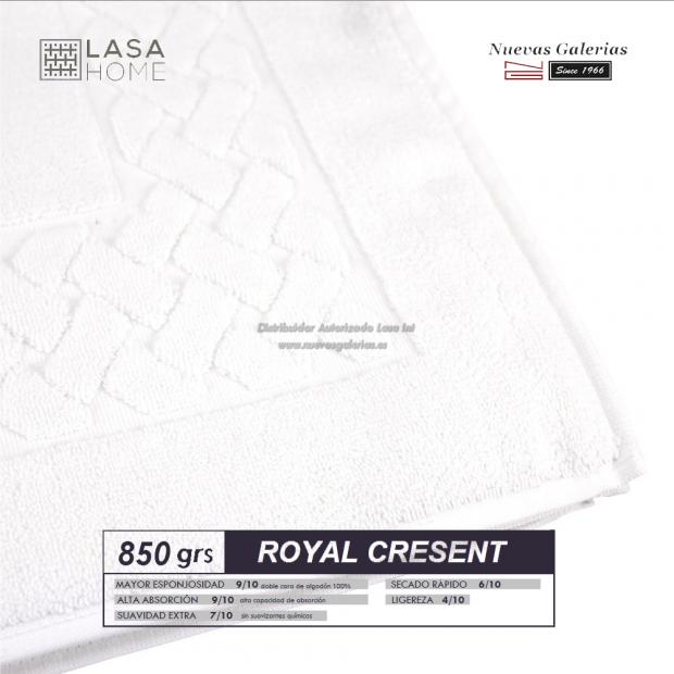 Tapis de bain 100% coton 850 g / m² Blanc   Royal Cresent