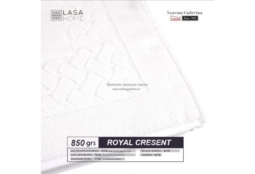 100% Baumwolle Badteppich 850 g / m² Weiß | Royal Cresent