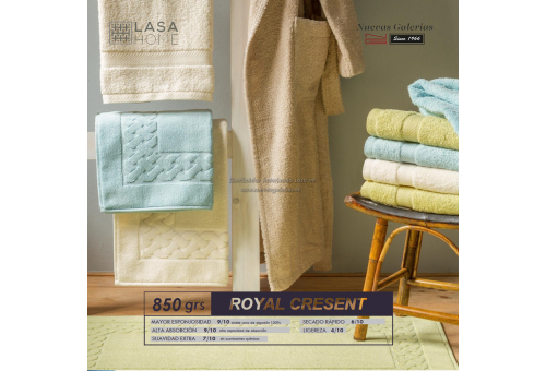 100% Baumwolle Badteppich 850 g / m² Weiß   Royal Cresent