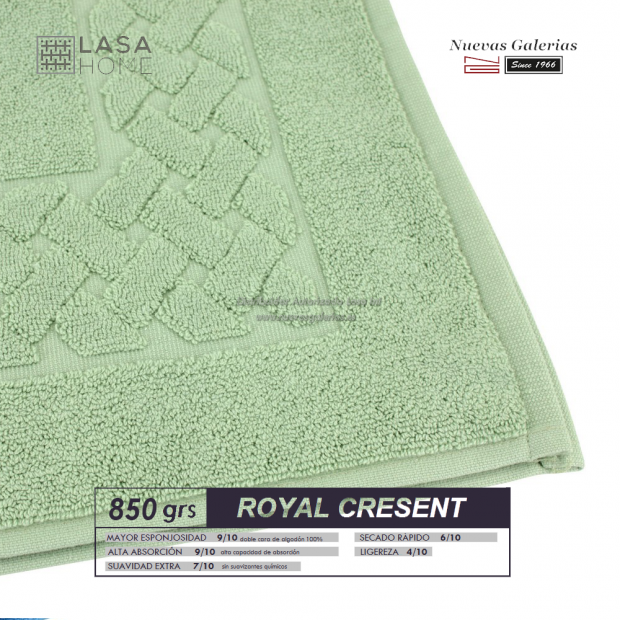 100% Cotton Bath Mat 850 gsm Celadon Green | Royal Cresent