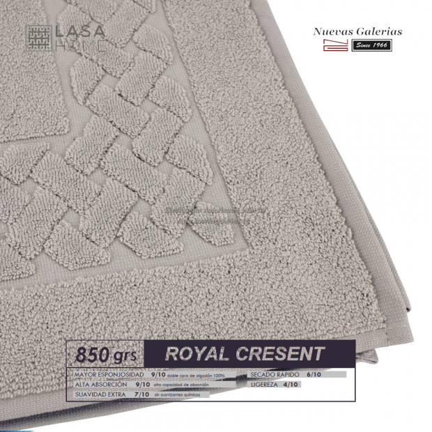 100% Baumwolle Badteppich 850 g / m² Grauer Stein   Royal Cresent