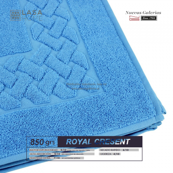 100% Cotton Bath Mat 850 gsm Sky Blue | Royal Cresent