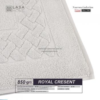 100% Baumwolle Badteppich 850 g / m² Platin | Royal Cresent