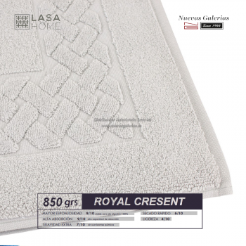 100% Cotton Bath Mat 850 gsm Platinum | Royal Cresent