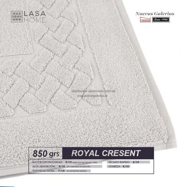 100% Baumwolle Badteppich 850 g / m² Platin   Royal Cresent