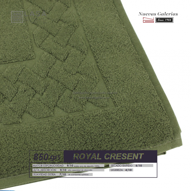 Alfombra de Baño Algodón 850 g / m² Verde Botella | Royal Cresent