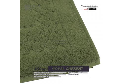 Tappeto bagno in spugna di cotone Verde bottiglia 850 grammi | Royal Cresent