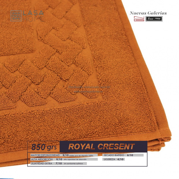 100% Cotton Bath Mat 850 gsm Yellow topaz | Royal Cresent