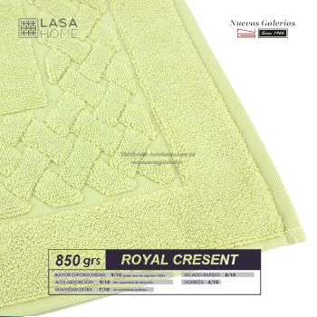 Alfombra de Baño Algodón 850 g / m² Verde pastel | Royal Cresent