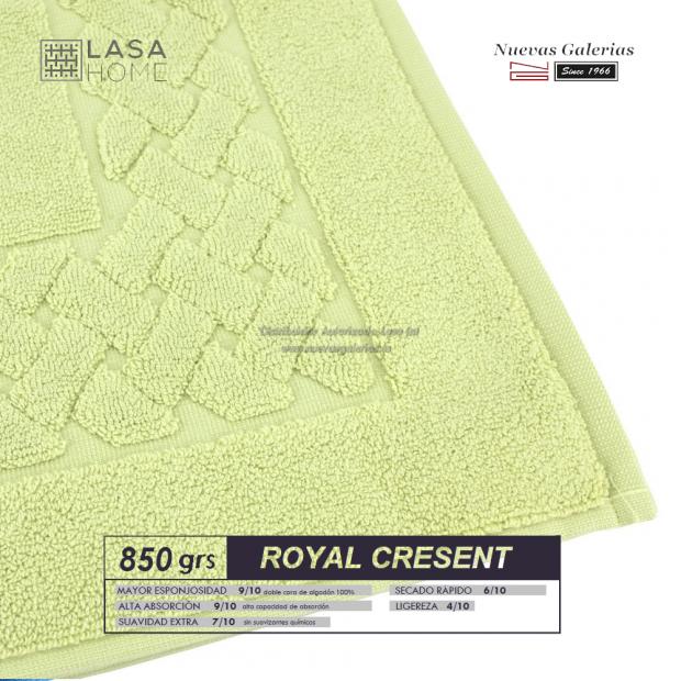 Tapis de bain 100% coton 850 g / m² Vert pastel   Royal Cresent