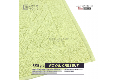 100% Cotton Bath Mat 850 gsm Pastel green | Royal Cresent