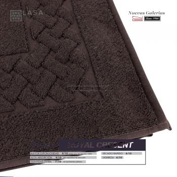 Alfombra de Baño Algodón 850 g / m² Marrón Chocolate | Royal Cresent