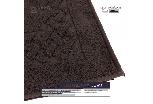 100% Baumwolle Badteppich 850 g / m² braune Schokolade | Royal Cresent