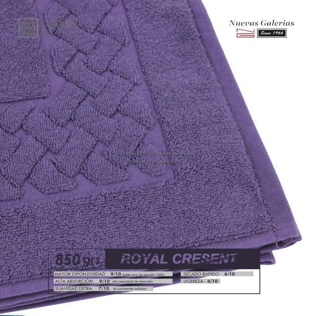 Tappeto bagno in spugna di cotone Prugna viola 850 grammi | Royal Cresent