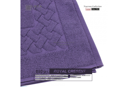 100% Cotton Bath Mat 850 gsm Purple plum | Royal Cresent