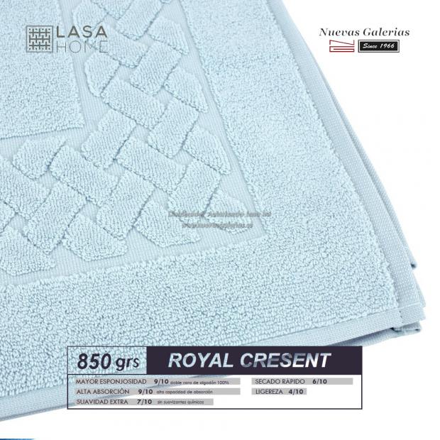 Tappeto bagno in spugna di cotone Blu pallido 850 grammi | Royal Cresent