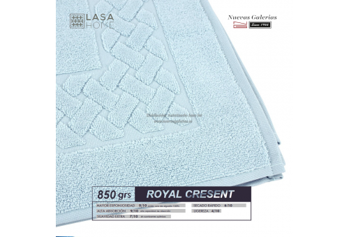 100% Cotton Bath Mat 850 gsm Pale Blue | Royal Cresent