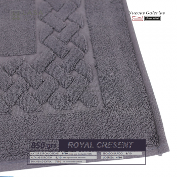 100% Cotton Bath Mat 850 gsm Steel Gray | Royal Cresent