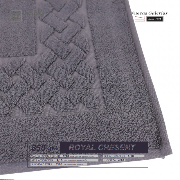 Alfombra de Baño Algodón 850 g / m² Gris Acero | Royal Cresent