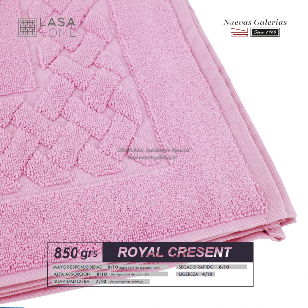 Tapis de bain 100% coton 850 g / m² Rose lavande | Royal Cresent