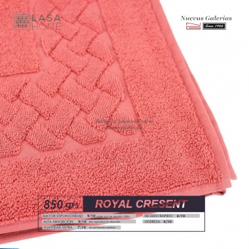100% Cotton Bath Mat 850 gsm Red Terracotta | Royal Cresent