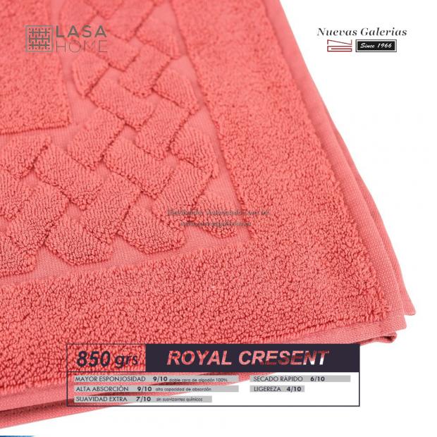 Tappeto bagno in spugna di cotone Terracotta rossa 850 grammi | Royal Cresent