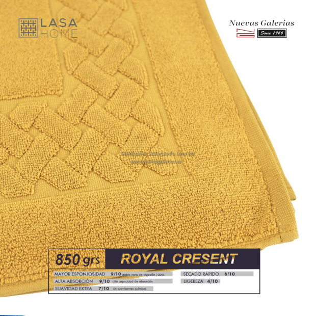 Tappeto bagno in spugna di cotone Quarzo giallo 850 grammi | Royal Cresent
