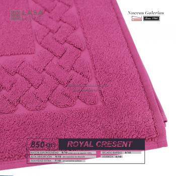 Tapis de bain 100% coton 850 g / m² Rose Vin | Royal Cresent