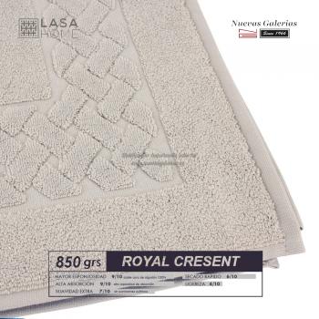 Tappeto bagno in spugna di cotone Beig grigio 850 grammi | Royal Cresent